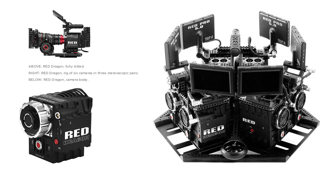 stereoscopic stereo professional pro RED Dragon 3D