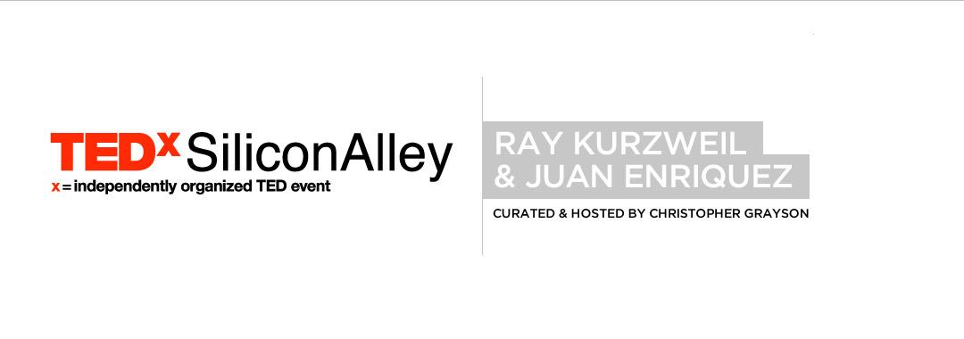 TEDxSiliconAlley TEDx Silicon Alley 2012 Ray Kurzweil Juan Enriquez