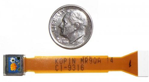 Kopin microdisplay with dime
